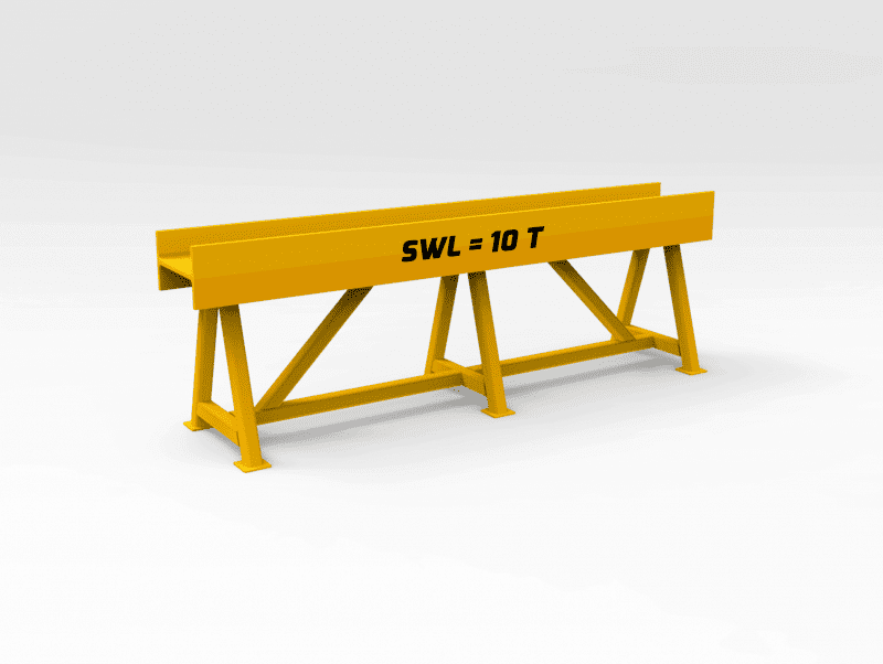 10 Ton Trestle Stand 2000mm Wide x 650 mm High FL