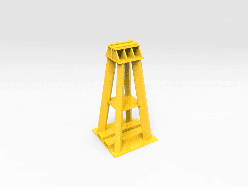 75 Ton Front End Haul truck support Stand FL