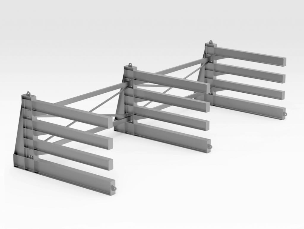 Horizontal Steel Plate Rack LH