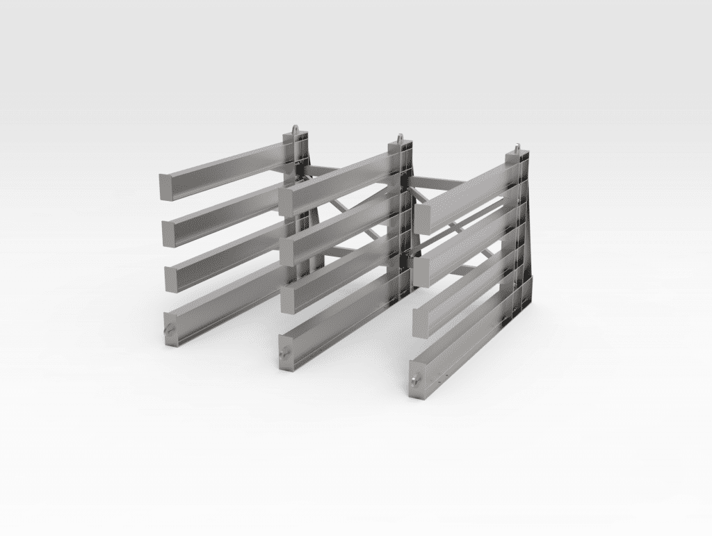 Horizontal Steel Rack RH