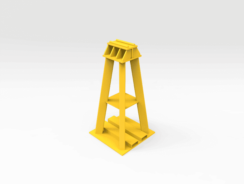 75 Ton Front End Haul truck support Stand