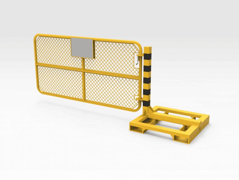 Mobile Pedestrian Gate 2449mm - CLOSED RH
