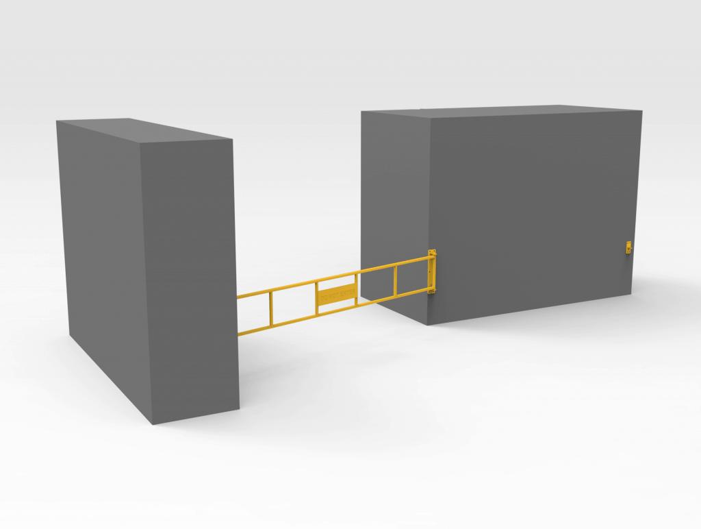 Lockable Gate 3830mm CLOSED RH