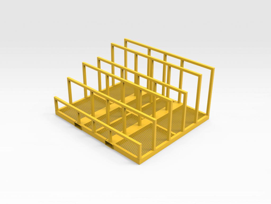 Mobile Steel Plate Rack RH
