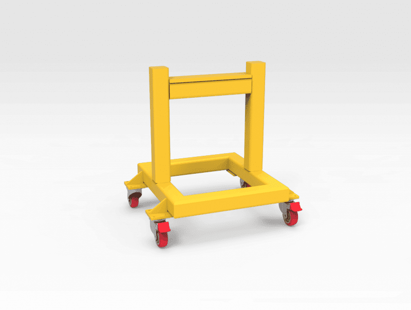 Steel Support Stand on Wheels