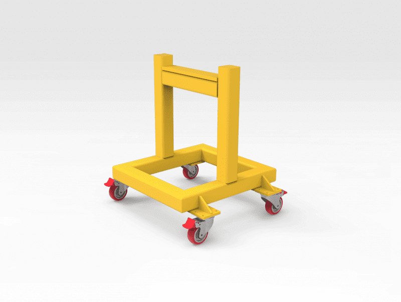 5501714 Steel Support Stand on Wheels