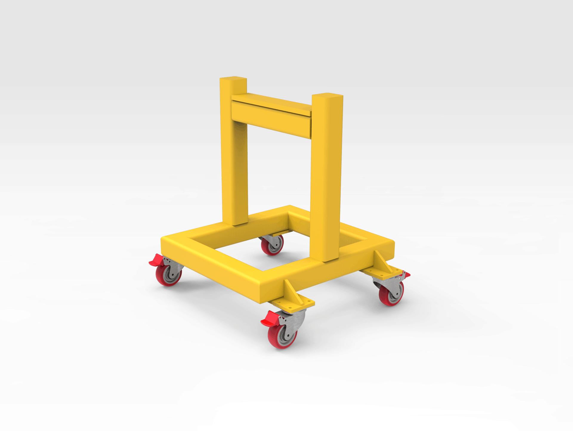5501714 Steel Support Stand on Wheels RH