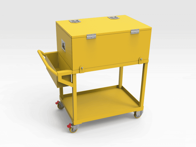 Trolley with Toolbox - Closed REAR