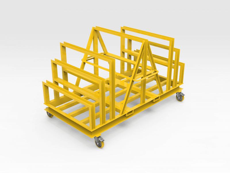 Steel Plate Rack on Wheels FR1