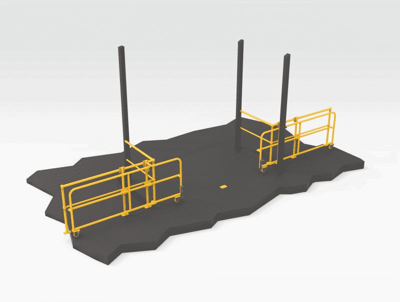 Forklift Entrance Gate - Open FL