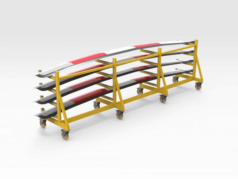 Rotor Blade Workshop Rack REAR