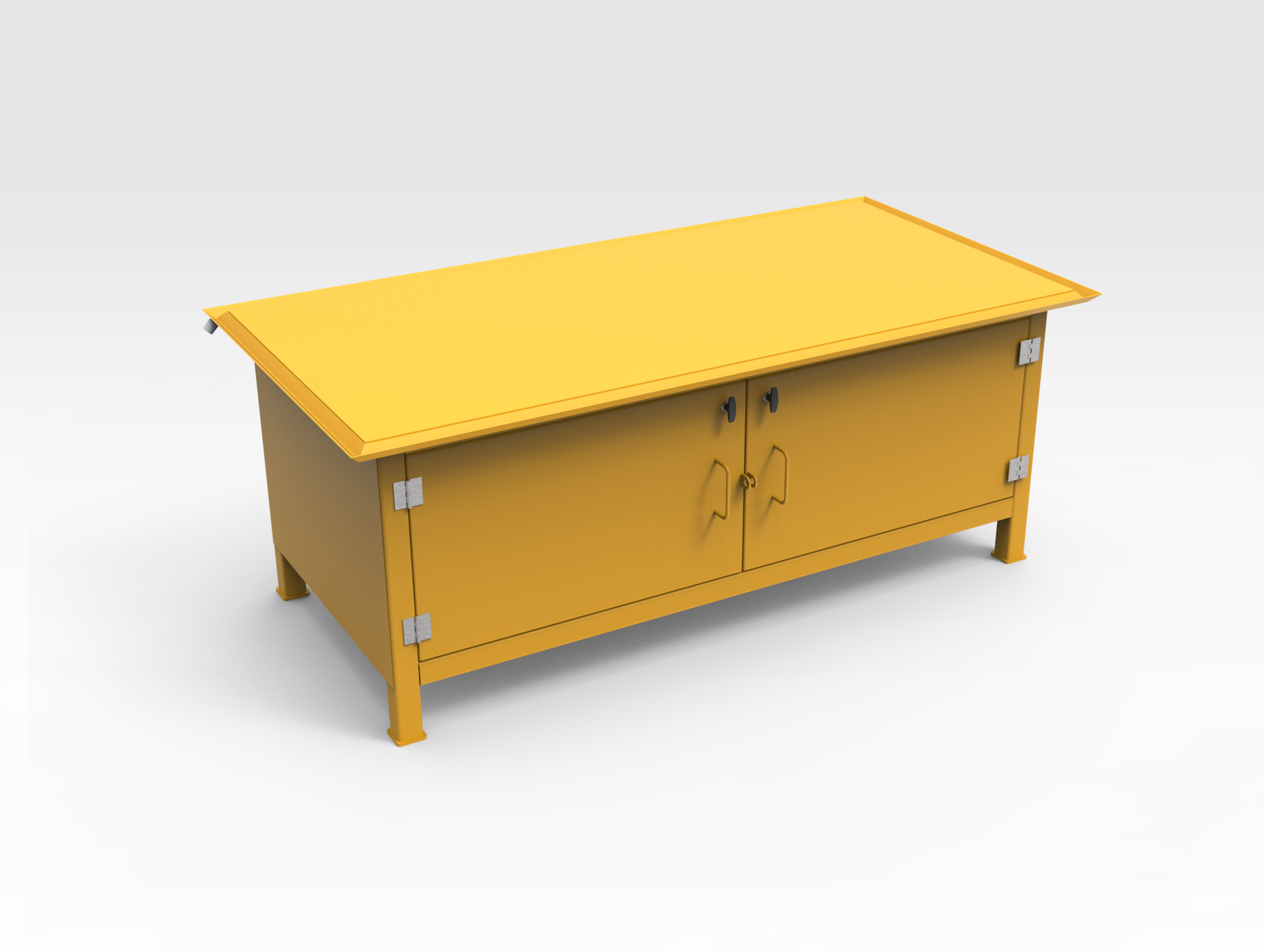 Workbench with Enclosed Storage