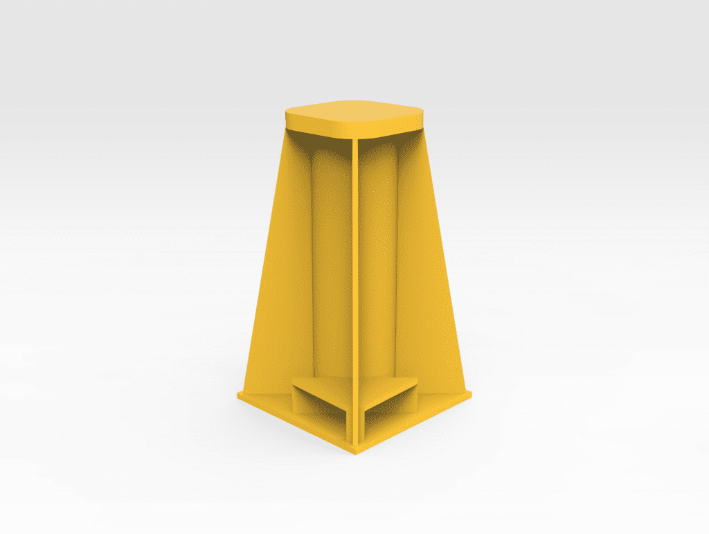 970mm Square Base Stand FRONT