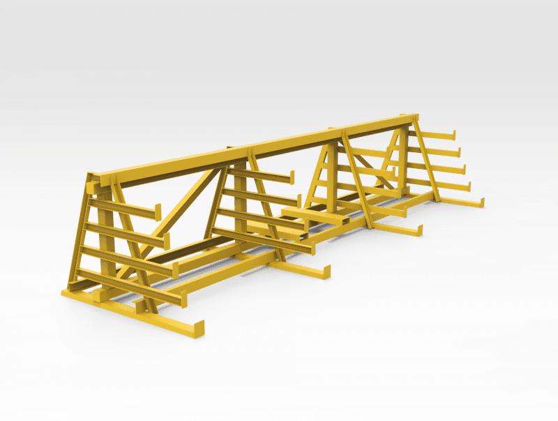 Steel Pipe Storage Rack - Small FL1