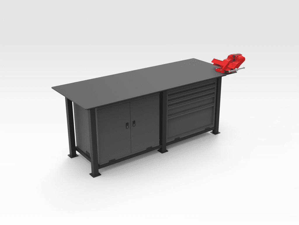 Workbench - Cabinet with Drawers LH