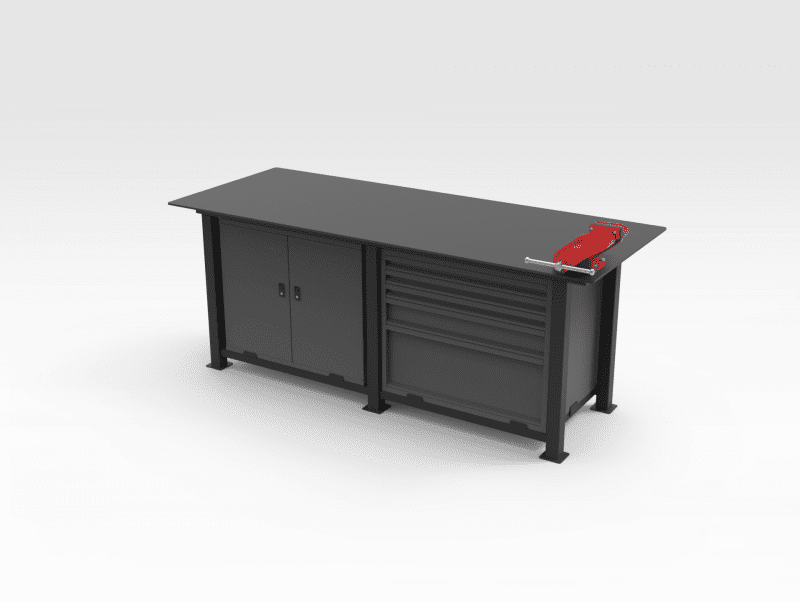 Workbench - Cabinet with Drawers RH