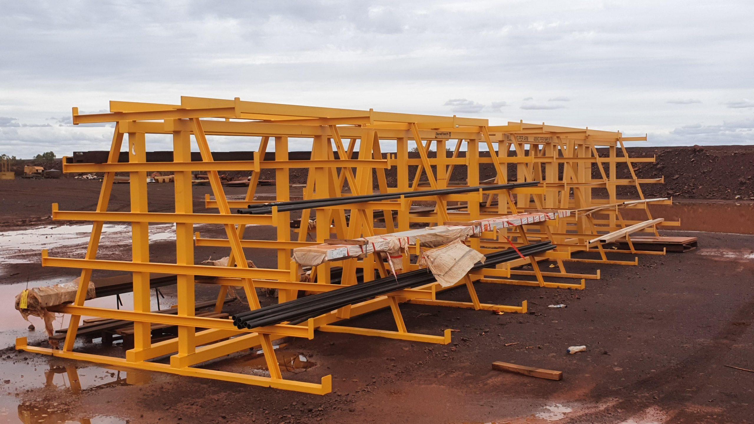 Flat plate steel storage racks